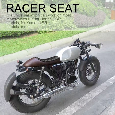 Vintage Styling Design Universal Motorcycle Plaid Hump Seat Racer Cover Saddle