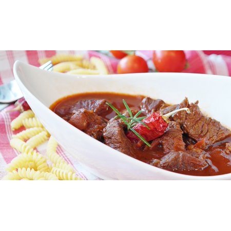 LAMINATED POSTER Main Course Eat Meat Court Goulash Cook Beef Poster Print 24 x