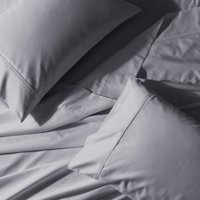 Wrinkle-Free 650 Thread Count Cotton Blend Solid Sheet Sets - Queen - Gray