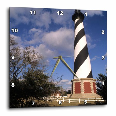 3dRose Cape Hatteras Lighthouse, North Carolina - US34 BBA0000 - Bill Bachmann, Wall Clock, 13 by