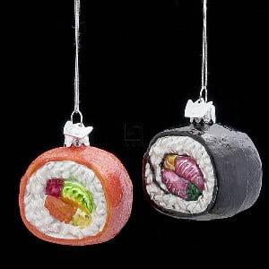 Glass Sushi - Noble Gems Glass Sushi Ornament Set Of 2