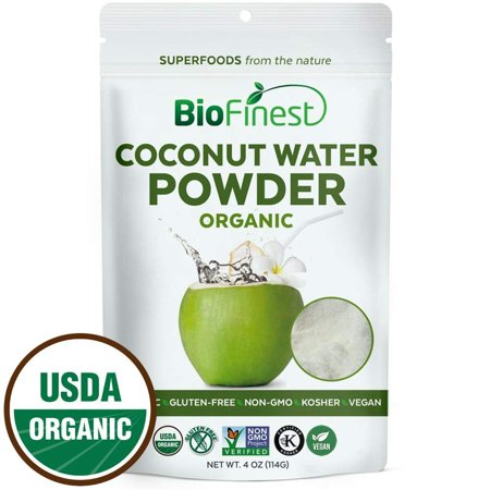 Biofinest Coconut Water Powder - 100% Pure Antioxidants Superfood - USDA Certified Organic Vegan Raw Non-GMO- Boost Digestion Weight Loss - Fresh Fruit For Smoothie Beverage (4 oz Resealable