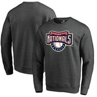 Washington Nationals Fanatics Branded Cooperstown Collection Huntington Sweatshirt - Heathered Gray