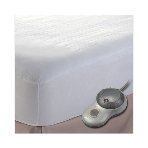 sunbeam nonwoven easyset thermofine heated electric mattress pad king size - Heated Mattress Pad King