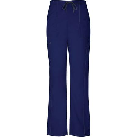 Vital Threads Women's Drawstring Cargo Scrub Pant (Ciel Blue Scrubs)