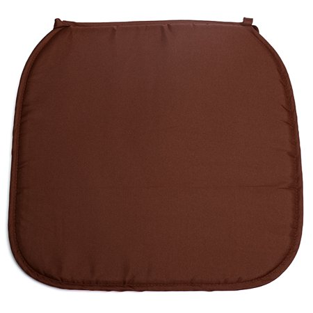 40x40x2cm Brown Chair Seat Cushions Outdoor Indoor Square Soft Tie On Chair Pad Home