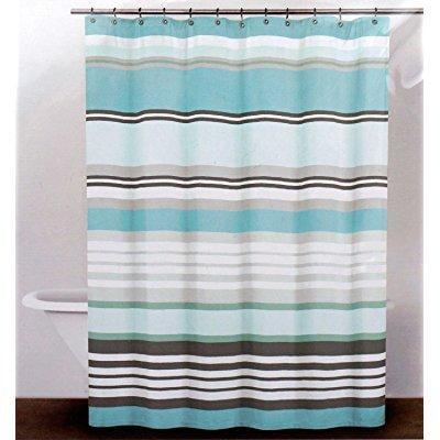 Dkny Fabric Shower Curtain Urban Lines Reef Blue