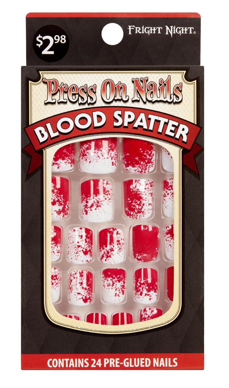 Halloween Fn Blood Spatter Nails - Walmart.com - Walmart.com