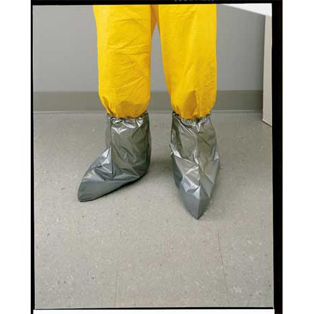 North by Honeywell One Size Fits All 15'' Silver Shield 2.7 mil Polyethylene EVOH Chemical Protection Boot Cover With Elastic Opening