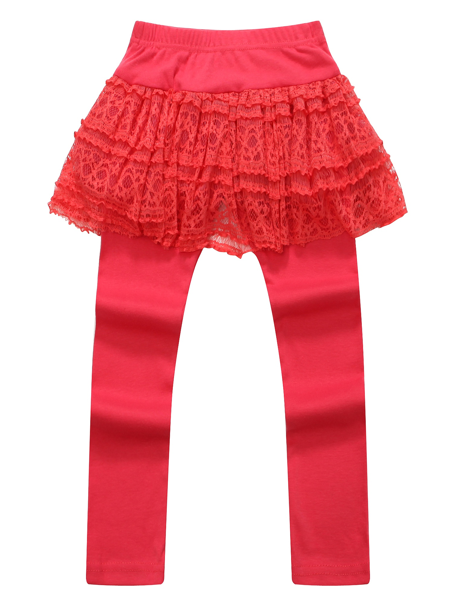 Richie House Girls' Leggings with Lace Tutu-style Skirt RH0882
