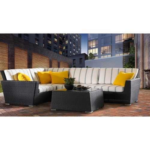 Caluco Maxime All-Weather Wicker Sectional Set - Seats 4