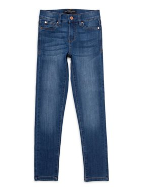 Celebrity Pink Girls Mid Rise 5 Pocket Skinny Jeans, Sizes 7-12