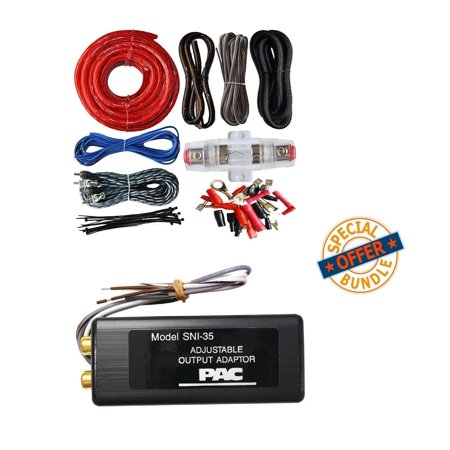 0 Gauge Amp Kit Amplifier Install Wiring w/ PAC SNI-35 Variable LOC