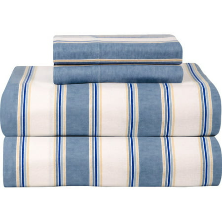 Celeste Home Blue Stripe 100pct Cotton Sheet Set