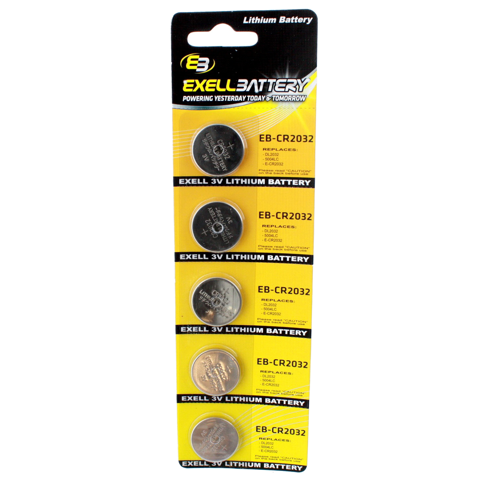 5pk 3V Lithium Coin Cell Battery CR2032 Replaces DL2032 KL2032 ECR2025 USA SHIP