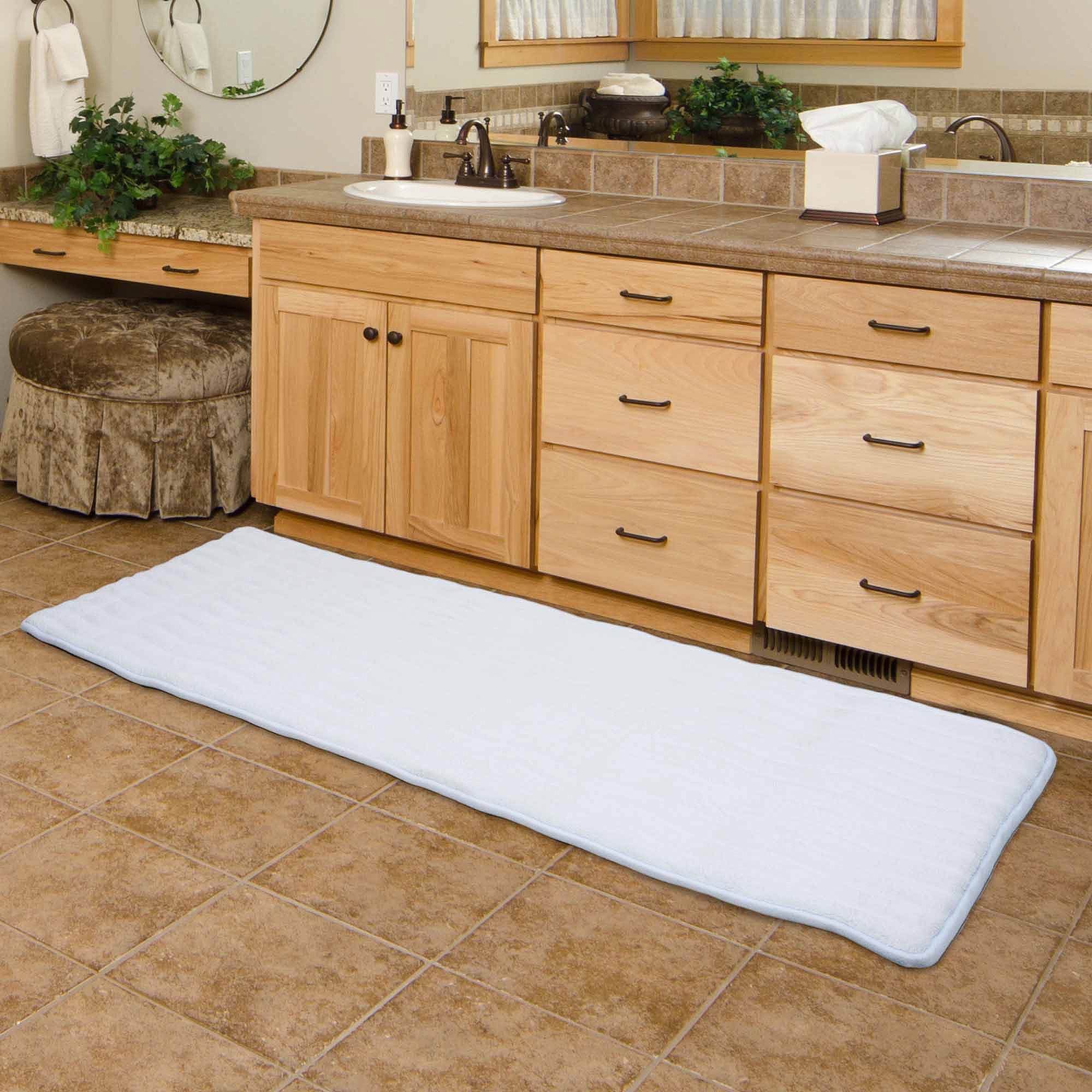 "somerset home memory foam extra long bath mat, 24"" x 60"" - walmart"