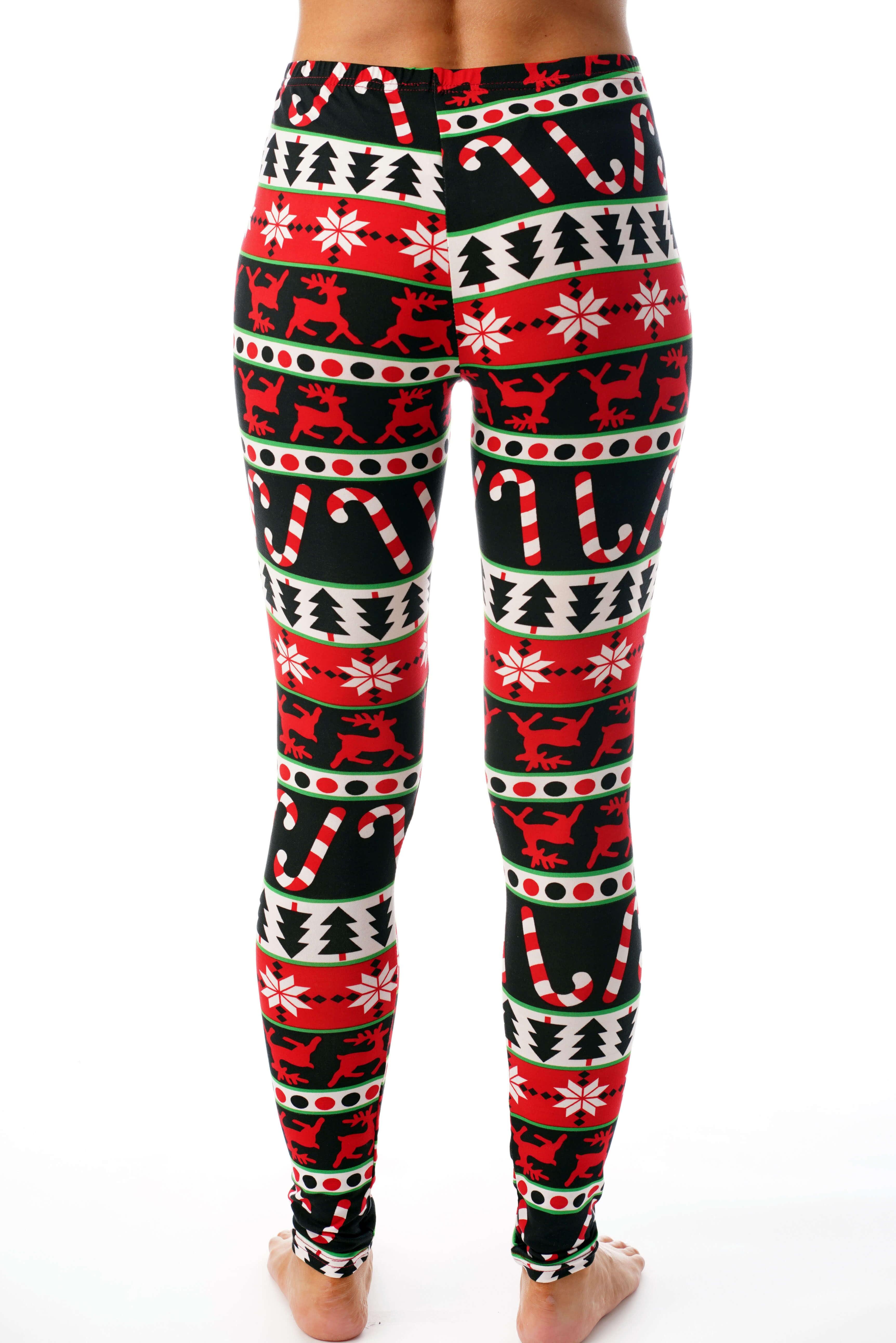 Christmas Camper Women/'s Leggings For Full-time RV/'ers Buffalo Red Black Plaid