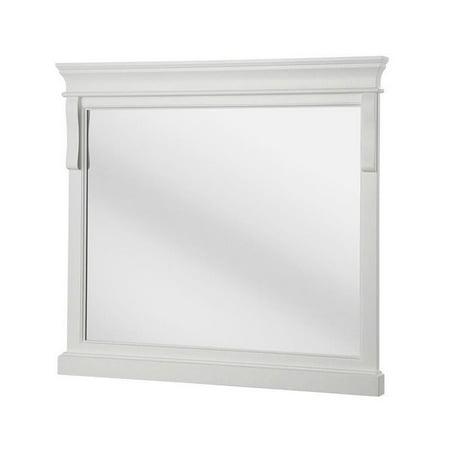 Naples 36 in. x 32 in. Framed Wall Mirror in White - Walmart.com