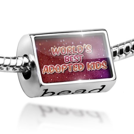 Bead Worlds best Adopted Kids, happy sparkels Charm Fits All European