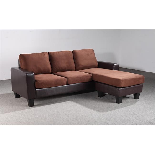 Nova Furniture Group NF216 SCH Sectional Sofa Chaise, Chocolate Brown