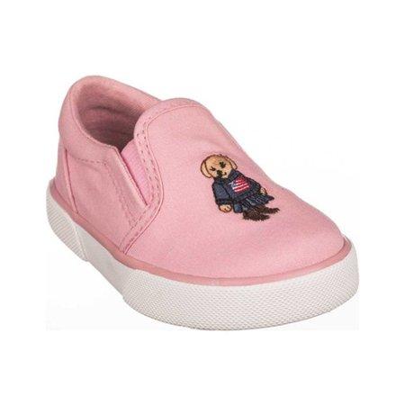 Infant Girls' Polo Ralph Lauren Bal Harbour II Bear Slip On Sneaker - Toddler