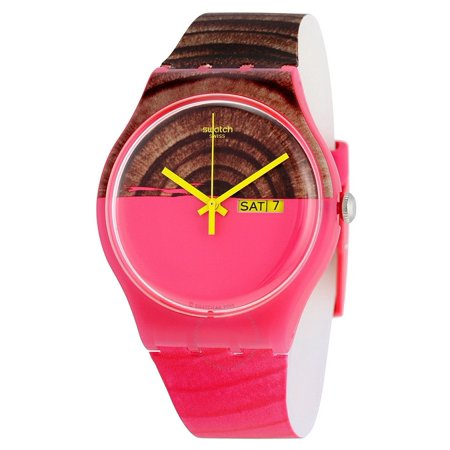 Swatch Woodkid Pink and Brown  Dial Pink and Brown Silicone Unisex Watch SUOP703
