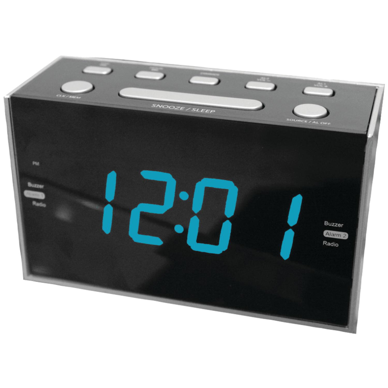"Sylvania SCR1053 1.2"" Jumbo Digit Dual Alarm Clock Radio with Blue LED by Sylvania"