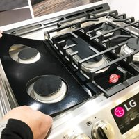 LG Stove Protector Liners - Stove Top Protector for LG Gas Ranges - Customized - Easy Cleaning Stove Liners for LG Model LRG3095SB/00