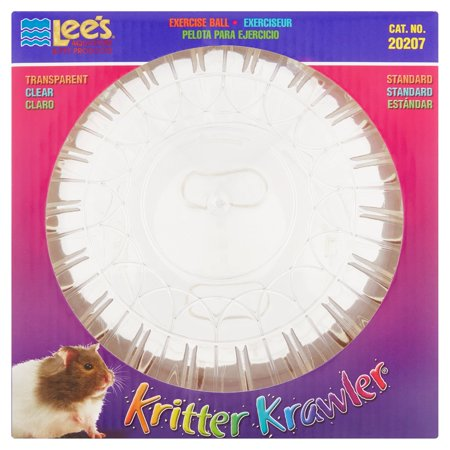 Lee's Kritter Krawler Exercise Ball, Standard, Clear - 7-Inch Multi-Colored, each