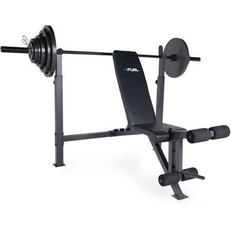 Fuel pureformance olympic bench with 300 lb weight set Weight set and bench