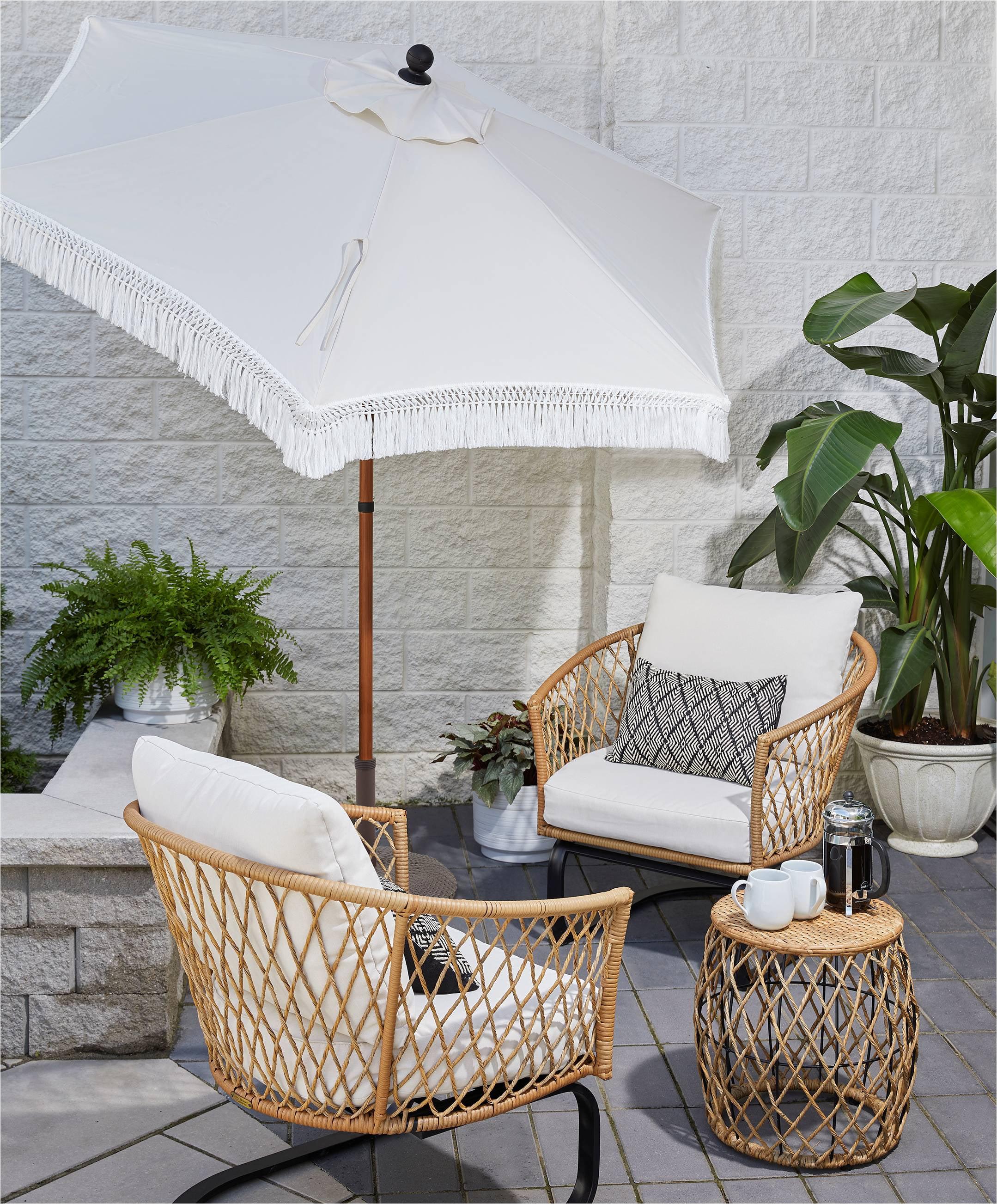 better homes gardens ventura 3 piece white outdoor boho wicker chat set wicker frame walmart com