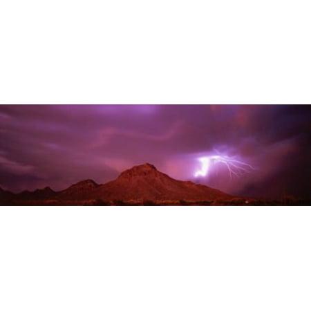 Tucson AZ USA Canvas Art - Panoramic Images (18 x 6)