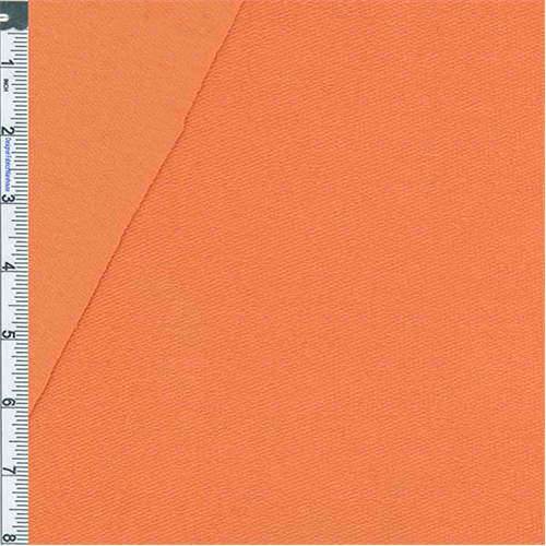 Orange Baby French Terry Jersey Knit, Fabric By the Yard
