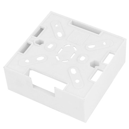 White Plastic Square Housing Socket Face Plate Wall Panel Cover (Plant Housing)