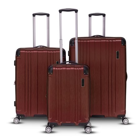 Gabbiano Bravo Collection 3-Piece Expandable Luggage Set Black Luggage Collection