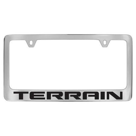 Gmc Terrain Chrome Plated Metal License Plate Frame Holder