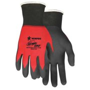 """MCR SAFETY Coated Gloves,Palm and Fingers,XS,9"""",PR N96970XS"""