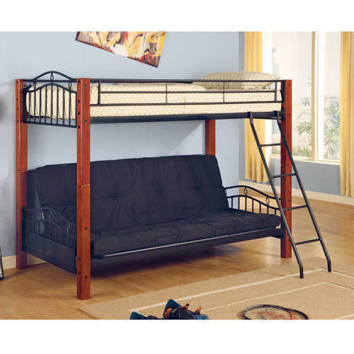 Coaster Multi Functional Twin Over Futon Metal Amp Wood Bunk
