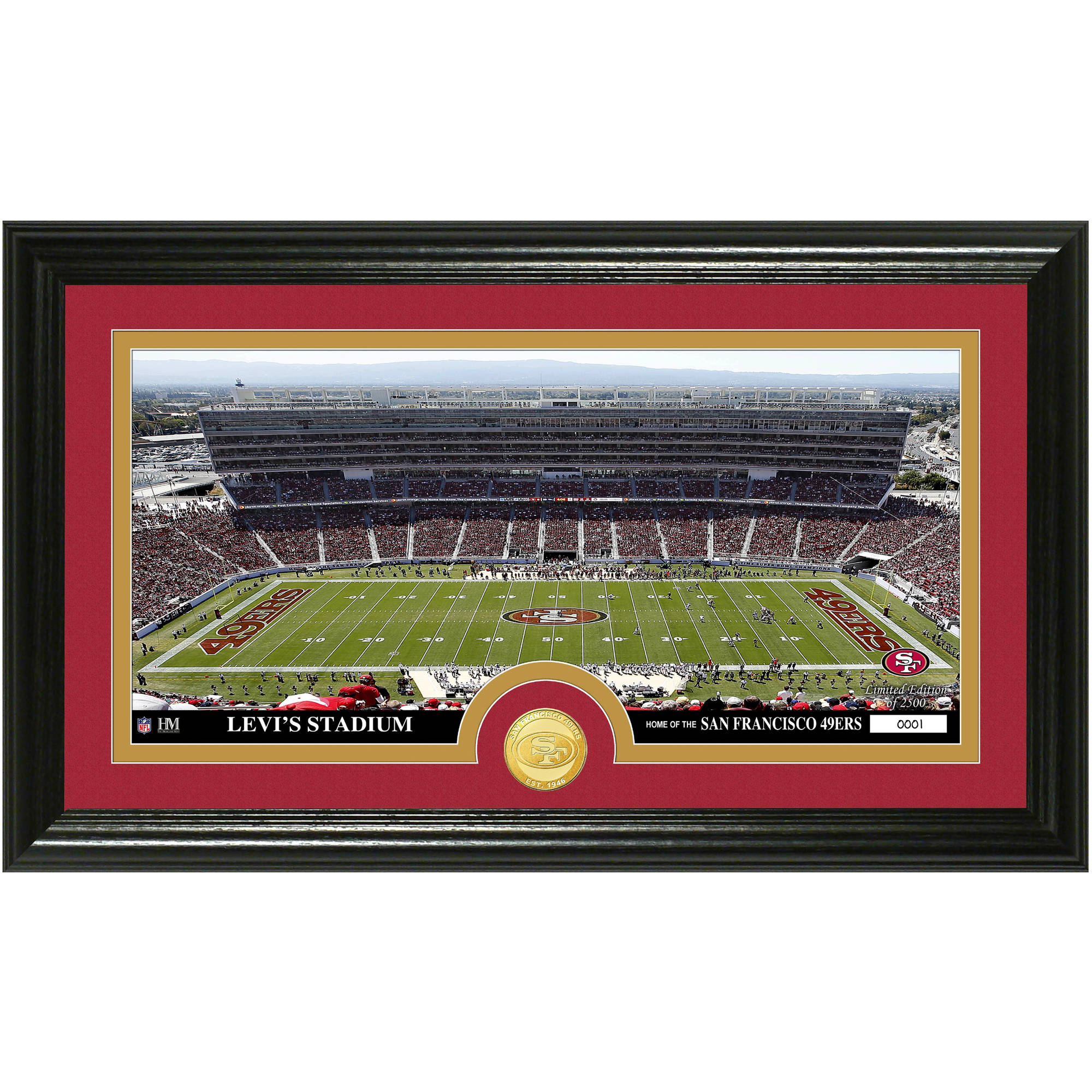 The Highland Mint NFL Stadium Bronze Coin Panoramic Photo Mint, San Francisco 49ers