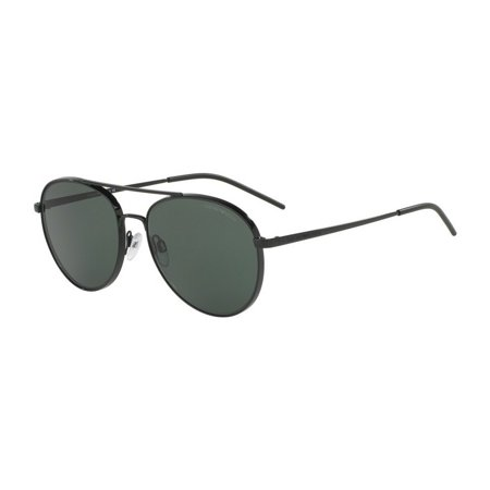 Emporio Armani Men's EA2040 301471 58 Aviator Metal Plastic Black Grey -