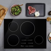 Empava 30 EMPV-IDC30 Induction Cooktop with 4 Booster Burners on Black Vitroceramic Glass