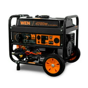 WEN DF475T 4750-Watt 120V/240V Dual Fuel Portable Generator with Wheel Kit and Electric