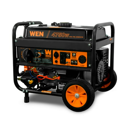 Usa Electric Generator (WEN 4750-Watt 120V/240V Dual Fuel Portable Generator with Wheel Kit and Electric Start - CARB Compliant)