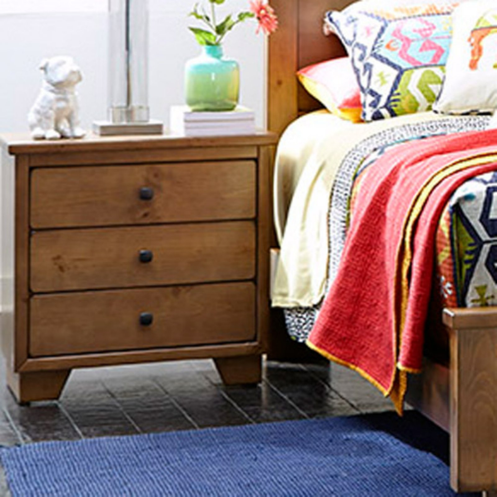 Progressive Furniture Diego 3 Drawer Nightstand