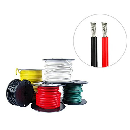 8 AWG Marine Wire Tinned Copper Boat Cable 25 ft Red, 25 ft Black USA