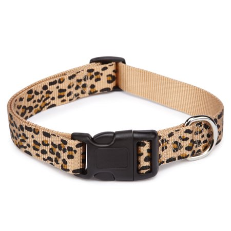ANIMAL PRINT DOG COLLAR 3 Safari Patterns Collars for Dogs - 4 Sizes Available (Cheetah, Medium - 14 to 20 inches)