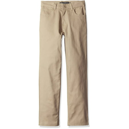 Boys Uniform Stretch Twill 5 Pocket Straight Leg Pant