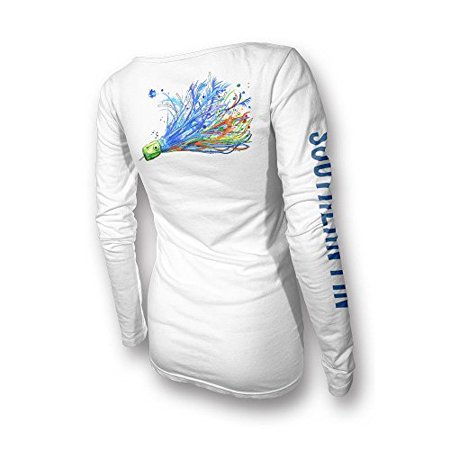 b30471289 Southern Fin Apparel - Southern Fin Apparel Womens Performance Fishing Shirt  Girls Ladies Long Sleeve (X-Small, Offshore Lure) - Walmart.com