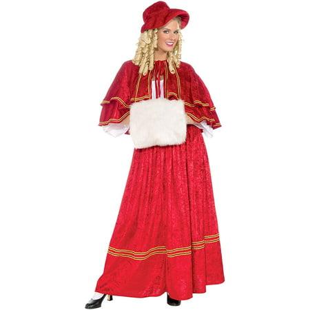 Christmas Caroler Costume (Women's Christmas Caroler Costume, Red, One Size, Christmas caroler costume By Forum)