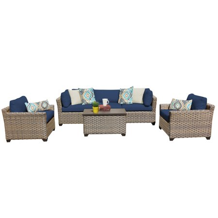 Hampton  Piece Outdoor Wicker Patio Furniture Set B
